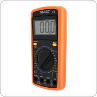 DT9205A LCD Display DMM Capacitance and hFE Test Multimeter Digital Multimeter with English Instructions