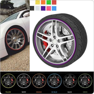 8m Car Styling Tire Tyre Rim Care Protector Hub Wheel Stickers Strip for BMW / VW Golf 4 / Opel / Astra / Toyota / Mazda