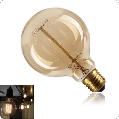 40W 110V-220V G95 Round Edison Squirrel Cage Filament Bulb E27 Screw Vintage Light Bulb