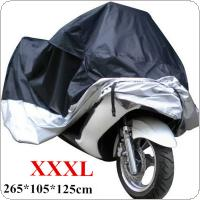 Motorcycle Cover Black & Silver Motor Sewing XXXL 265 x 105 x 125cm