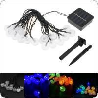OriGlam 15ft 20 LEDs Solar Twinkling Crystal Ball String Lights Garden Window Porch Lawn Lamp for  Christmas Holiday Decoration 4 Light Color Optional