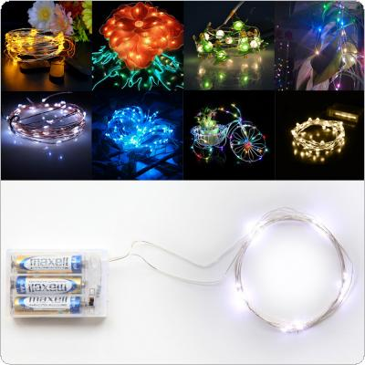 Origlam Battery Operated  2m / 6.6ft 20 LEDs Flexible Copper Wire Starry String Lights 3 Modes Fairy Lamp for Christmas Wedding Party Decor