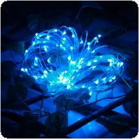 Origlam Waterproof 3m / 10ft 30 LEDs Flexible Copper Wire String Lights 3 Modes Starry String Lights Powered by AA Battery for Outdoor / Indoor Party Decor