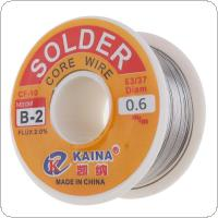 100g 63/37 45FT 0.6mm/0.8mm/1mm Tin Lead Solder Flux Soldering Welding Iron Wire Reel