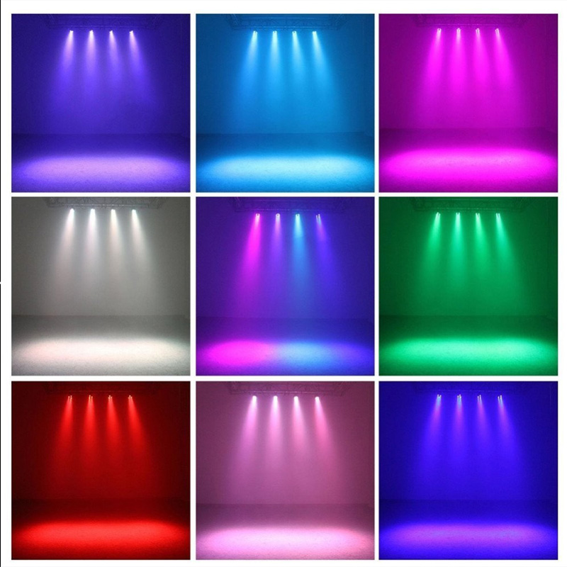 Stage Light 12x3W Flat LED Par RGBW DMX512 Disco Lamp KTV Bar Backlight Laser Beam Projector Dmx Controller Spotlights