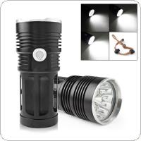3600LM 12x XML-T6 LED Super Bright Backpacking Hunting Fishing Flashlight with 4 Modes Torch Flash Lamp