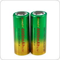 SKYWOLFEYE 2pcs 26650 3.7V 8000mAh Rechargeable Li-Ion Battery