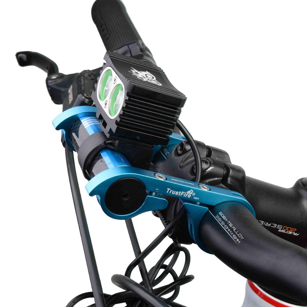 TrustFire Carbon Fiber Lighthouse Bike Bicycle Handlebar Extender Extension Mount Bracket Holder for Flashlight