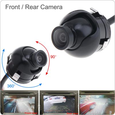 Mini CCD Night Vision 360 Degree Car Rear Front Side View Backup Camera With Mirror Image Conversion Lines