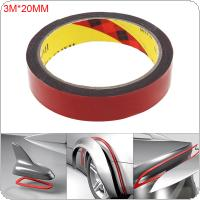 3mx20mm Double Sided Sticker Acrylic Foam Adhesive Car Interior Tape