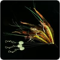 1pcs Noctilucent Soft Shrimp Lures 9cm 5.2g Artificial Bait Soft Fishing Lure
