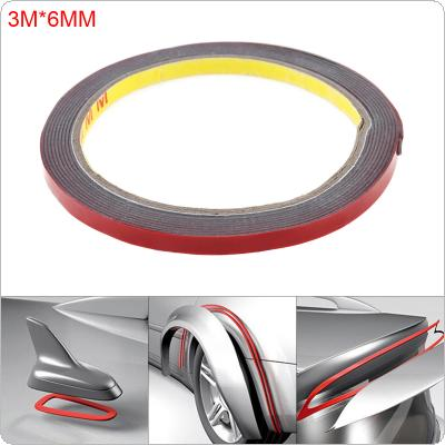 1pcs 2mx6mm Vehicle Double Sided Sticker Acrylic Foam Adhesive Interior Tape