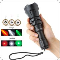SecurityIng Hunting Flashlight XM-L2 U4 Red / Green / White Led 900LM 5 Modes Zoomable Waterproof Torch + Remote Pressure Switch