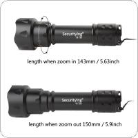 SecurityIng Osram Infrared IR 850nm Night Vision Flashlight 38mm Lens Zoomable LED Torch + 18650 Battery