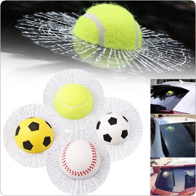 3D Funny Car Auto Styling Body Window Self Adhesive Ball Hits Sticker Baseball Tennis Decal