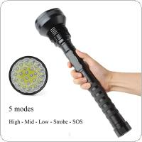 Waterproof 8000 LM 24x XML T6 LED Flashlight 5 Modes Torch 26650 / 18650 Camping Lamp Light Tactical Flashlights
