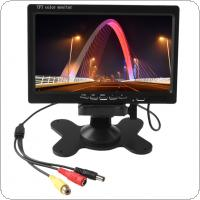 7 Inch 800x480 HD LCD Screen Display Backup System Monitor Support SD Fit for Warehouse / Car