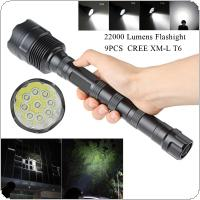 8000 Lumens 9x XML T6 5 Mode Super Flashlight Torch Lamp Light for Camping / Hiking