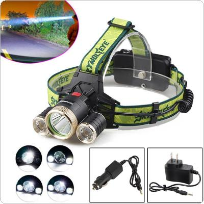 SKYWOLFEYE F526 Headlamp 1200LM XML T6+2x XPE 3 LED Rechargeable Head Light Torch + 2x Charger