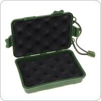 E-SMARTER Universal Waterproof Anti Fall Green Plastic Storage Box For Flashlight Light Torch Lamp 13x8x3.5cm