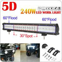 240W 23 inch Car LED Work Light Bar 5D 48x Chips Combo Offroad Light Driving Lamp  for Truck SUV 4X4 4WD ATV