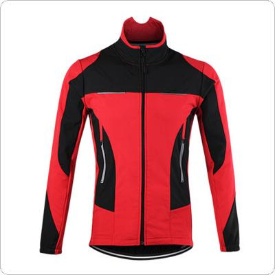 ARSUXEO Thermal Cycling Jacket Bicycle Clothing Winter Warm Up Sports Coat Windproof Waterproof MTB Bike Jersey