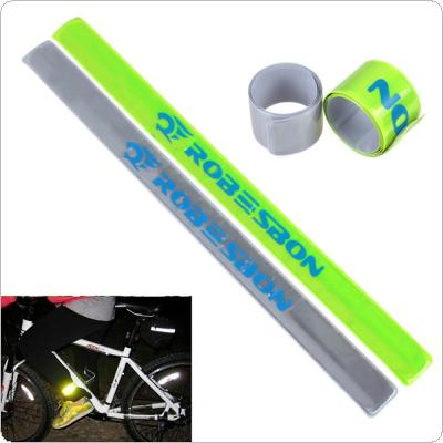 ROBESBON Dazzling Green or Silver Reflective Silicon Lattice for Night Riding Safety