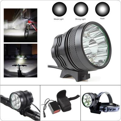 18000LM Waterproof 12 x CREE XM-L T6 LED Super Bright Camping Fishing Bicycle Cycling Flashing Light Lamp + Charger