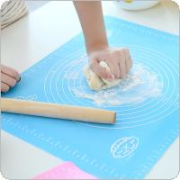 50x40cm With scale Silicone Mat Kitchen Kneading Pad Baking Mat Cooking Plate Table Grill Pad Tools Non Poisonous Harmless High Temperature Resistant