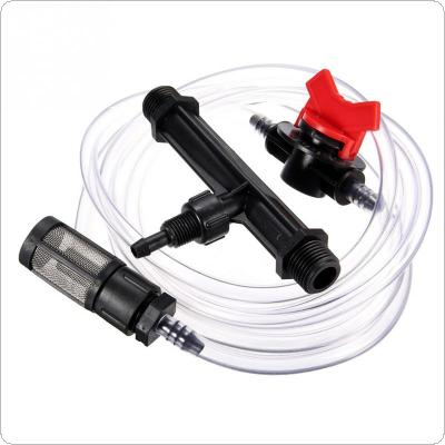 "1/2"" Garden Irrigation Device Venturi Fertilizer Injector Switch Water Tube Kit"