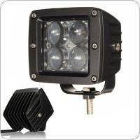 40W 12V/24V 4000LM 4 LED Work Light Fog Lamp for Motorcycle / Tractor / Boat / 4WD Offroad / SUV / ATV