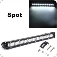 13 Inch 36W White LED Spot Combo Lamp Driving Offroad Work Light Bar 16200LM
