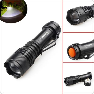 SKYWOLFEYE E502 800LM CREE Q5 LED Light 3 Modes Flash Waterproof Torch Lamp Zoomable