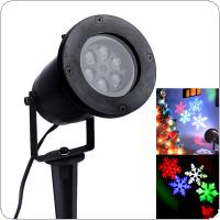 RGB Outdoor Waterproof Garden Tree Moving Snow Laser Projector Snowflake LED Stage Light Christmas Lights