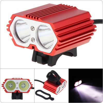 Bike Cycle 2 x CREE T6 LED Front Head Headlight USB Rechargeable Bicycle Light Torch 4 Modes 1600lm