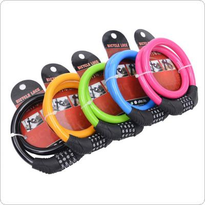 4 Digit Combination Password Cycling Security Bike Bicycle Cable Steel Wire Chain Lock