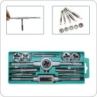 12PC/Set Hand Taps Metric Handle Tap and Die Set M3-M12 Adjustable Wrench Screw Thread Plugs Straight Taper Drill Repair Kits