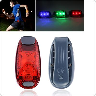 Portable 3 LED Running Light Bike Safety Warning Bicycle Rear Lamp Cycling Lights