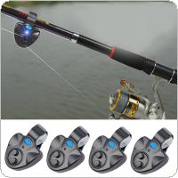 4pcs Electronic Fishing Rod LED Light Bell Clip Fish Bite Alarm Tool with Sound-light Alarm Device