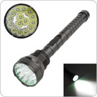 8000Lm 15 x XM-L T6 LED 5 Light Modes Waterproof Super Bright Flashlight with 1200m Lighting Distance