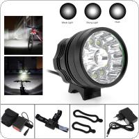 13 x XM-L T6 LED Bicycle Lamp Bike Light Headlight Cycling Torch 12000LM with 8.4V 6400mAh Battery