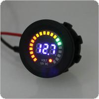 30MM 12V 5~15V Universal LED Electrical Car Volt Voltage Gauge Meter with Voltage Sensor for Car Auto Motorcycle