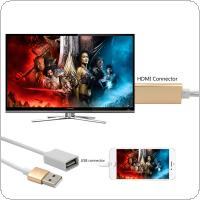 Plug and Play 8pin USB to HDMI Adapter HDTV Audio AV Cable Fit for iPad / iPod / iPhone