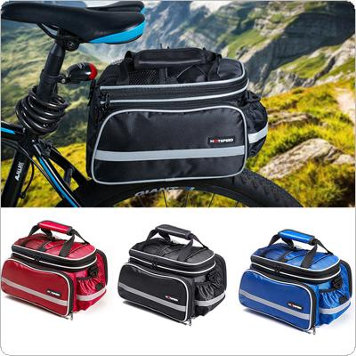 Convertible Bicycle Luggage Bag Road Mountain Bike Rear Seat Rack Cargo Carrier Container Bag with Rainproof Cover Bicycle Accessories