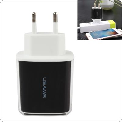 USAMS 5V 3.4A Fast Charger Travel Charger USB Wall Mobile Phone Charger for iPhone Samsung iPad Tablet
