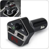 Car LCD Bluetooth MP3 Music Player Kit Auto Radio Player Hands-free FM Transmitter Charger for Phones Extend MP3 USB TF