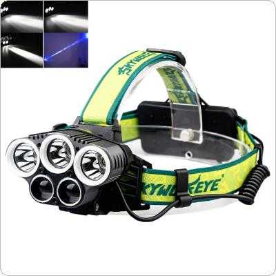 SKYWOLFEYE F526 Headlamp 1500Lm 3x T6+2x XPE 3 LED Rechargeable HeadLight Torch
