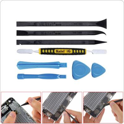 Kaisi 8 in 1 Cell Phone Opening Tools Plastic Metal Spudger Set Prying Opening Repair Tool Kit for iPhone Mobile Phone