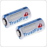 Trust Fire 4pcs 3V 1400mAh 16340 CR123A Lithium Battery with Safety Relief Valve for LED Flashlights / Headlamps / Cameras /  Headsets