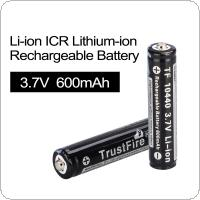 TrustFire 2pcs 3.7V 600mAh 10440 Li-ion Rechargeable  Battery with Protected PCB for LED Flashlights / Headlamps